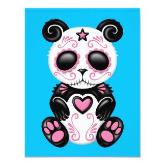 Panda rosada del azúcar del zombi en azul comunicado