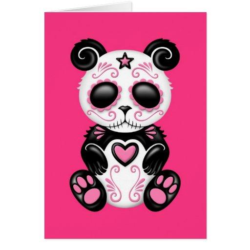 Panda rosada del azúcar del zombi tarjeta de felicitación