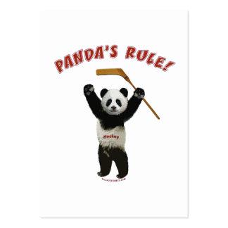 Panda s Rule Hockey Bear Business Cards
