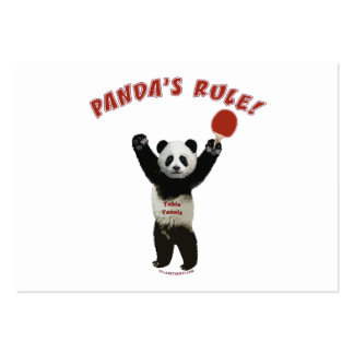 Panda s Rule Ping Pong Business Cards