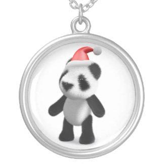 panda Santa del bebé 3d Colgante Redondo