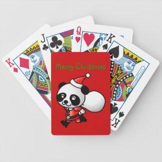 Panda Santa Playing Cards