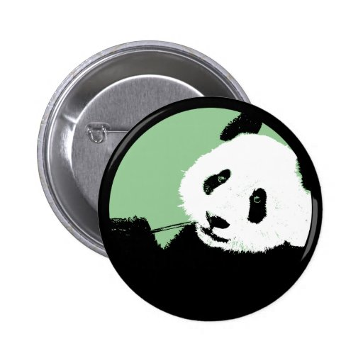 panda. seagreen circle. button
