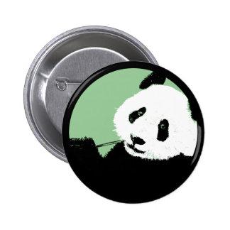 panda. seagreen circle. pin
