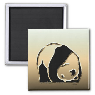 Panda series 2 inch square magnet