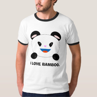 Panda Shirt , I LOVE BAMBOO.