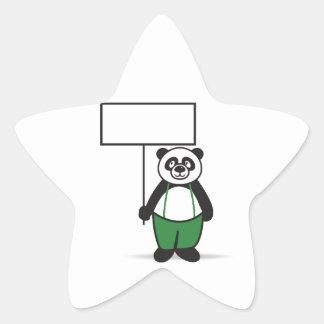 Panda Sign Star Sticker