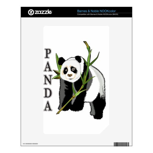 Panda Skin For The NOOK Color