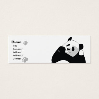 Panda - Skinny Mini Business Card