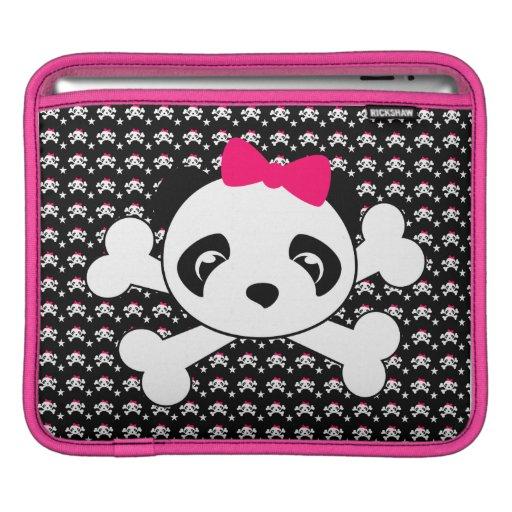 Panda Skull & Crossbones IPad Sleeve