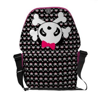 Panda Skull & Crossbones Messenger Bag