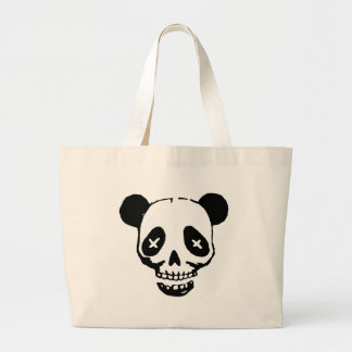 Panda Skull Large Tote Bag