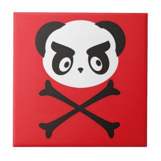 Panda skull ceramic tile