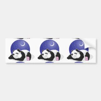 Panda Sleeping Car Bumper Sticker