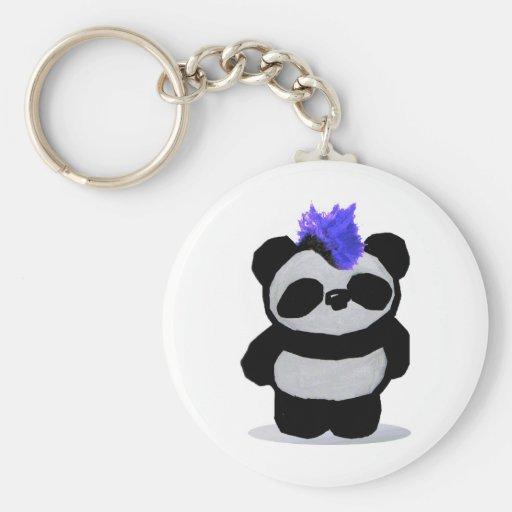 Panda Small 2010 Edition Basic Round Button Keychain