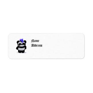 Panda Small 2010 Edition Label Return Address Label