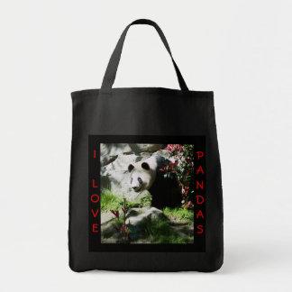 Panda Smile Grocery Tote Bag
