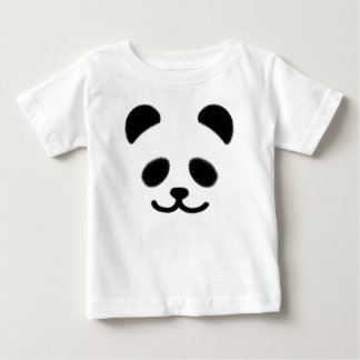 Panda Smiley Black Baby T-Shirt