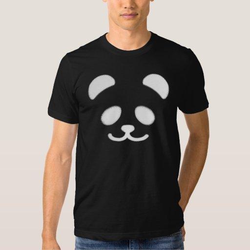 Panda Smiley White Tee Shirts