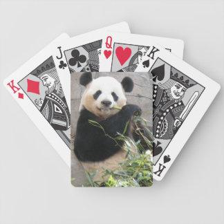 Panda Snack Bicycle Playing Cards