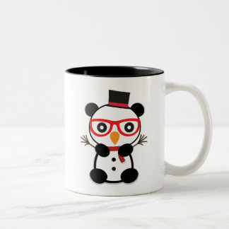 Panda Snowman - Leon The Panda Bear Snowmen Mug