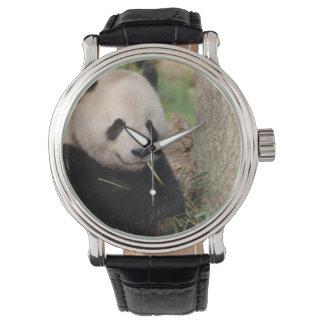 Panda sonriente linda relojes de pulsera