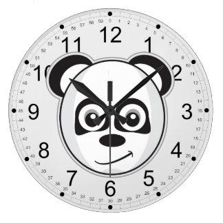 Panda sonriente reloj redondo grande
