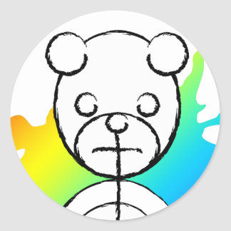 panda splatz. classic round sticker