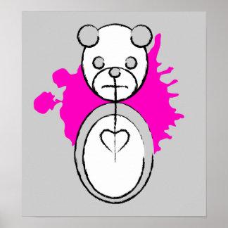 panda splatz. poster