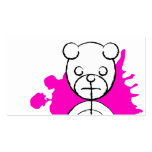 panda splatz. tarjeta de negocio