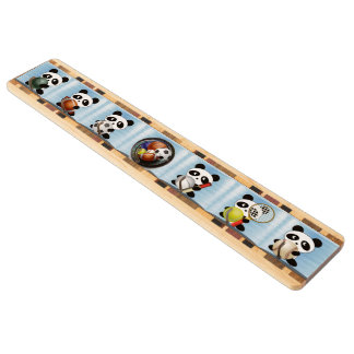 Panda sports wood keyrack