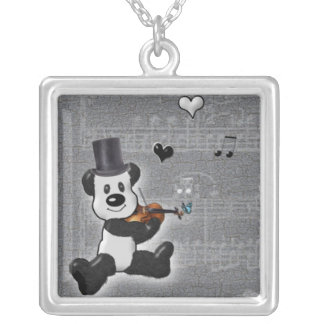Panda Square Necklace