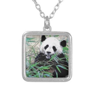 Panda Square Pendant Necklace