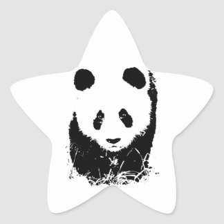 Panda Star Sticker