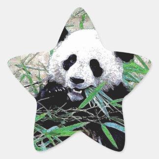 Panda Star Sticker