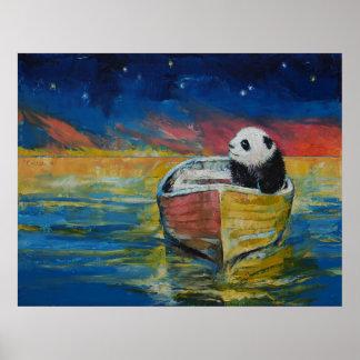 Panda Stargazer Poster