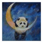 "Panda Stars 5.25"" Square Invitation Card"