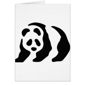 panda stencil greeting card