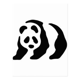 panda stencil postcard