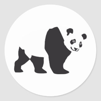 Panda Round Stickers