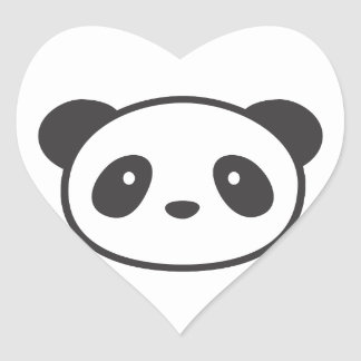 PANDA STICKY HEART STICKER