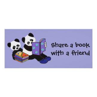 Panda Storytime Bookmarks Rack Card