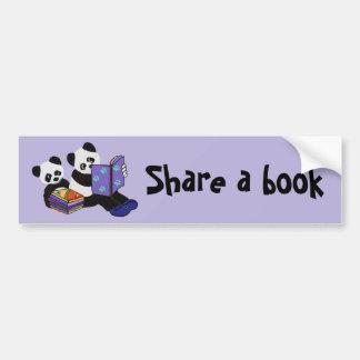 Panda Storytime Bumper Sticker