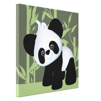 Panda Stretched Canvas Prints