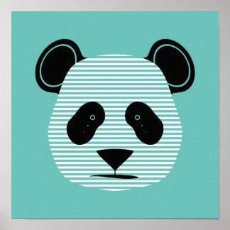 panda stripes poster