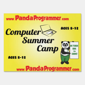 Panda Summer Sign Front and Back