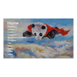 Panda Superhero Double-Sided Standard Business Cards (Pack Of 100)