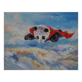 Panda Superhero Poster