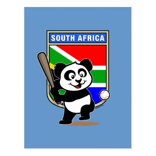 Panda surafricana del béisbol tarjetas postales