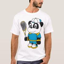 Panda - Tennis Player T-Shirt